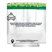 Airport Cab Express Shower Curtain