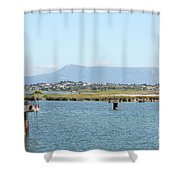 airport on Corfu island Greece Shower Curtain