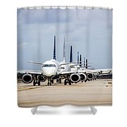 Airport Runway Stacked Up Shower Curtain