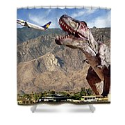 Airport Snack Bar Plane Food Shower Curtain