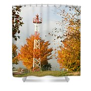 Airport Tower Shower Curtain