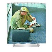 Airport Wait Shower Curtain
