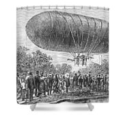 Airship Ascent, 1883 Shower Curtain