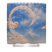 Airshow At The Lou Shower Curtain by Susan Rissi Tregoning