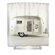 Airstream Bambi Camper Shower Curtain