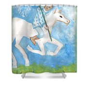 Airy Knight Of Wands Shower Curtain