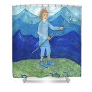 Airy Page Of Wands Shower Curtain