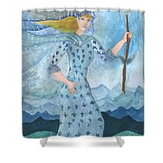 Airy Queen Of Wands Shower Curtain