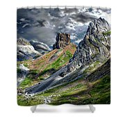 Aisa Valley Scenic Shower Curtain