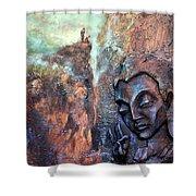 Ajanta Buddha Shower Curtain