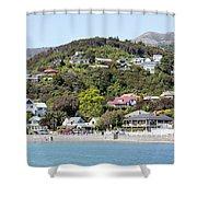 Akaroa Resort Town Shower Curtain