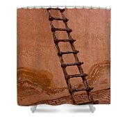 Al Ain Ladder Shower Curtain by Barbara Von Pagel