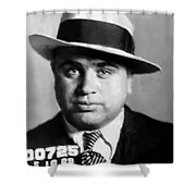 Al Capone Mugshot Painterly Shower Curtain
