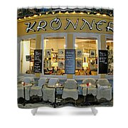 Al Fresco Dining Bavarian Style Shower Curtain