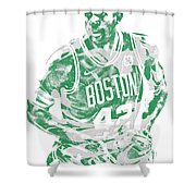Al Horford Boston Celtics Pixel Art 6 Shower Curtain