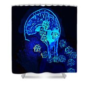 Al In The Mind Black Light View Shower Curtain