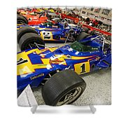 Al Unser Winning Cars At Indianapolis Shower Curtain