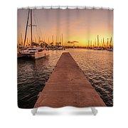 Ala Wai Harbor Sunset Shower Curtain