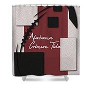 Alabama Crimson Tide Art Shower Curtain
