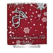 Alabama Crimson Tide Christmas Card 2 Shower Curtain