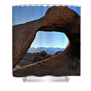 Alabama Hills Window Shower Curtain