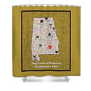 Alabama Loves Dogs Shower Curtain