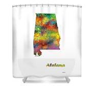 Alabama State Map Shower Curtain