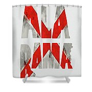 Alabama Typography Map Flag Shower Curtain