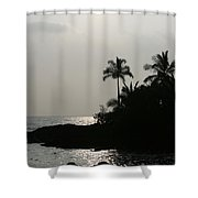 Alabaster Sunset Makena Landing Maui Hawaii Shower Curtain