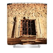Alamo Night Window Shower Curtain