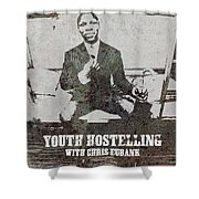 Alan Youth Hostelling Chris Eubank Shower Curtain