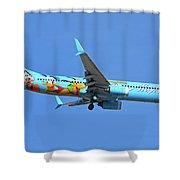Alaska 737-990 N318as Spirit Of Disneyland Phoenix Sky Harbor November 27 2017 Shower Curtain