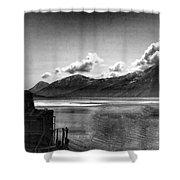Alaska Black  Shower Curtain