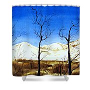 Alaska Blue Sky Day  Shower Curtain
