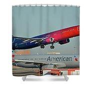 Alaska Boeing 737-900 N493as More To Love Phoenix Sky Harbor October 27 2017 Shower Curtain