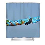 Alaska Boeing 737-990 N318as Disneyland Phoenix Sky Harbor January 19 2016 Shower Curtain