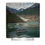 Alaska Endicott Glacier Shower Curtain