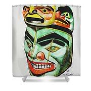 Alaska Masks Shower Curtain