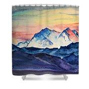 Alaska Mountain Shower Curtain
