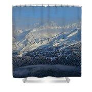 Alaska Mountain View Shower Curtain