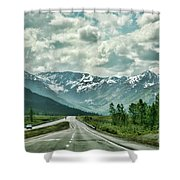 Alaska On The Road  Shower Curtain