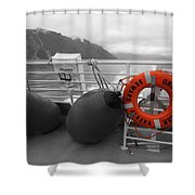 Alaska Orca Voyager Shower Curtain