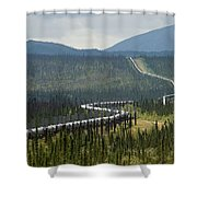 Alaska Pipeline Heading South Thru Shower Curtain
