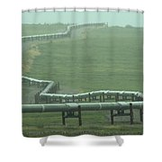 Alaska Pipeline Snakes Its Way Shower Curtain