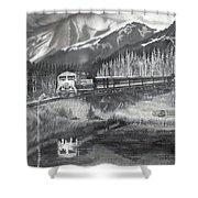 Alaska Railroad Near Whittier Shower Curtain
