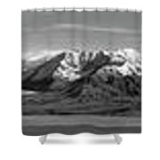 Alaska Range Bw Shower Curtain