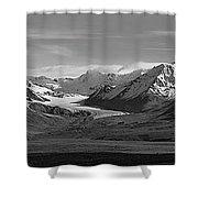 Alaska Range Center Panel Shower Curtain