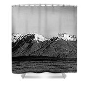 Alaska Range Left Panel Shower Curtain