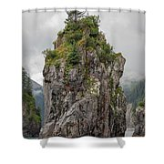 Alaska Sea Stack Shower Curtain