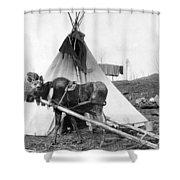 Alaska: Tepee, C1916 Shower Curtain